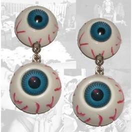 Earrings - Blue Eyeballs