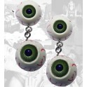 Earrings - Green Eyeballs