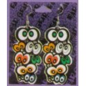 Earrings with Spooky Eyes