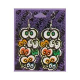 Earrings with Spooky Eyes