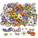 Spooky Eyeballs foam stickers (500 pack)