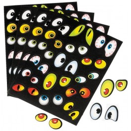 Stickers - Jeepers Creepers Eyes (12 sheets of 32 stickers)