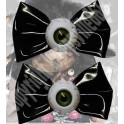 Hairbow Slide - Black Bows with Eyeballs