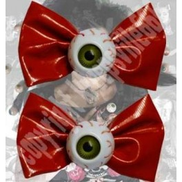 Hairbow Slide - Red Bows with Eyeballs