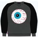 Sweat Shirt - Mishka Throwback Keep Watch Crewneck - Heather - XL