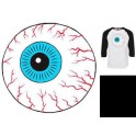 T-Shirt - Raglan Throwback Keep Watch - Black White - L