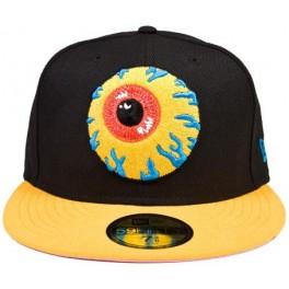 Hat - Mishka Keep Watch New Era - Black Yellow 7 3/4