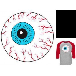 T-Shirt - Raglan Throwback Keep Watch - Heather Cardinal - L