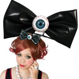 Hairbow Slide - Black with Eyeball