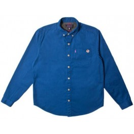 Shirt - Keep Watch Button Up - Blue - L