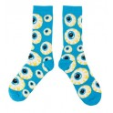 Socks - Mishka Keep Watch Pattern - Teal Blue