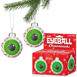 Glass Eyeball Ornaments - pair