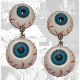 Earrings - Blue Eyeballs