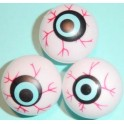 Plastic Eyeballs - white (12 pack)