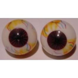 Realistic Eyes - white/brown