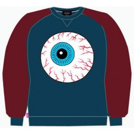 Sweat Shirt - Mishka Throwback Keep Watch Crewneck - Harbor Blue - XL