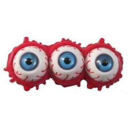 Hair Slides - Triple Eyeball Splatter - Blue