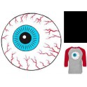 T-Shirt - Mishka Raglan Throwback Keep Watch - Heather Cardinal - XL