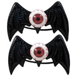 Hairbow Bands - Batty Eye Black
