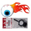 Flaming Eyeball Antenna Ball w/bike adapter - red/yellow flame