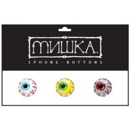 Mishka Keep Watch iPhone Button Stickers (3 pack)