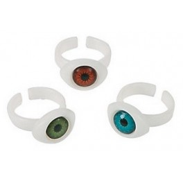 Plastic Eyeball Rings (12 pack)