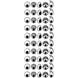 Stickers - Black and White Sticker Sheet (50 stickers)