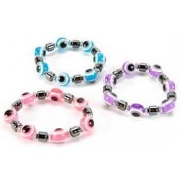 Bracelet - Large Eye Bead and Hemetite